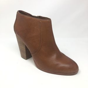 Coach Hattie Brown Leather Ankle Heeled Boots 9